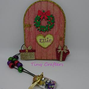 craft box christmas elf door and pixie dust