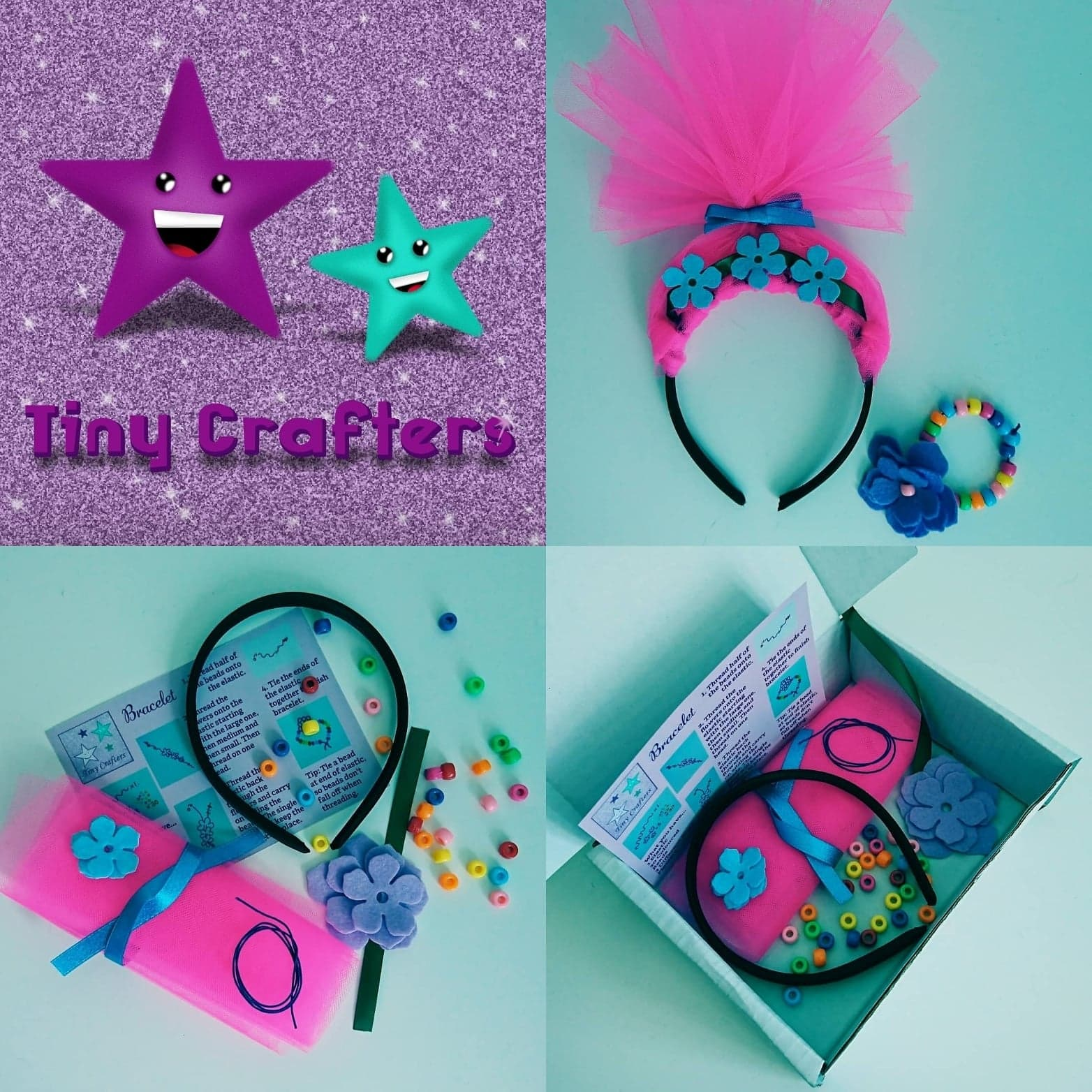 Pink Troll Headband Craft Box
