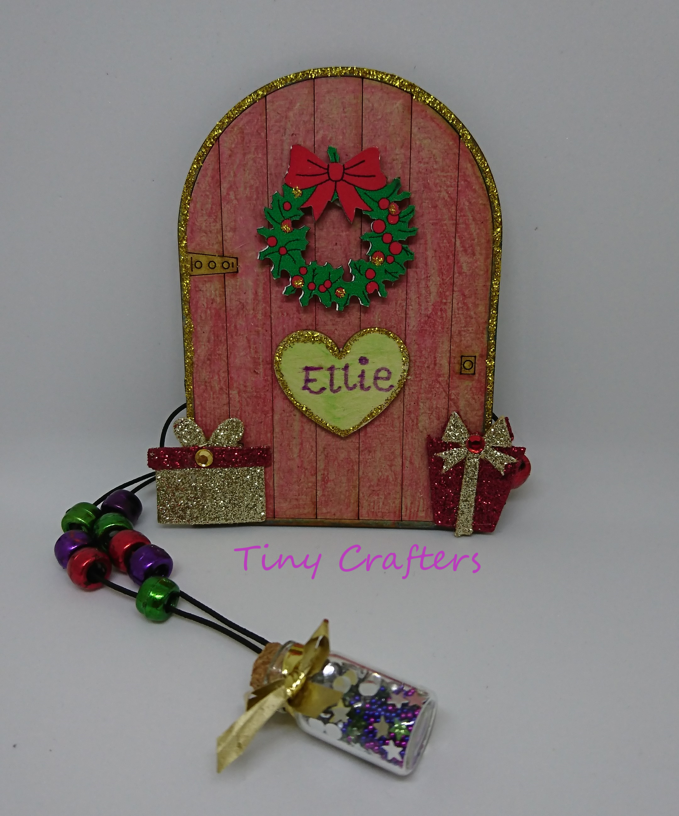 craft box christmas elf door and pixie dust